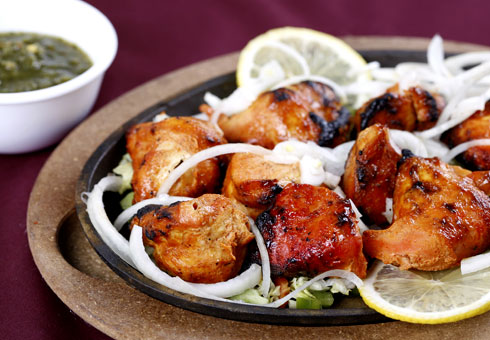 Exotic of India, London, chicken tikka pieces