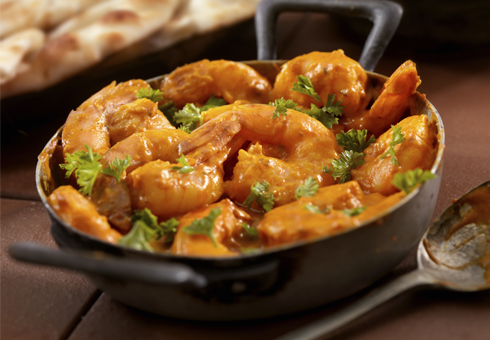 Mango Express Penyrhoel exquisite king prawn curry dish