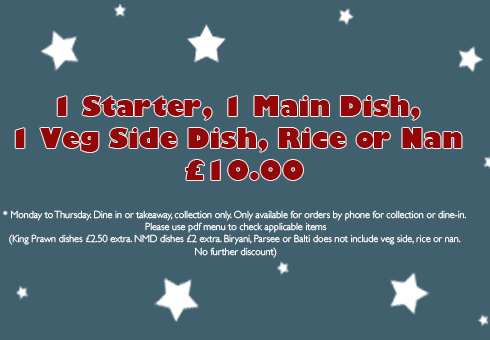 raj palace colchester special offers