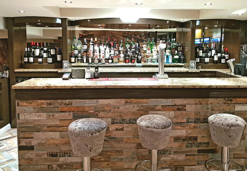 Bar area at Seven Elephants, Chelmsford