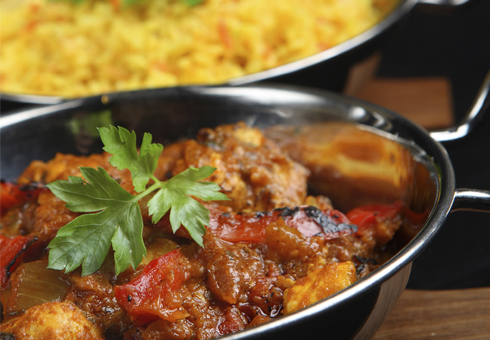 Indian Balti Dish. Kismet Balti House, Essex