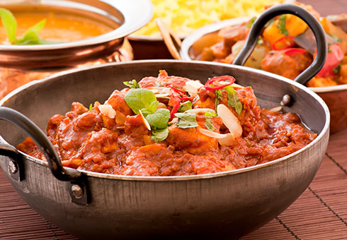 Kasturi Cardiff spicy chicken balti dish