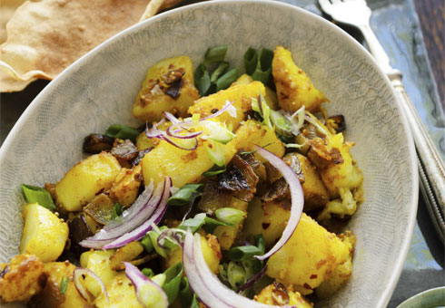Bombay potato cooked with fresh ingredients. Zeera, Ealing.