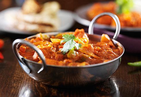 Traditional Indian curry dish. Zeera, Ealing.