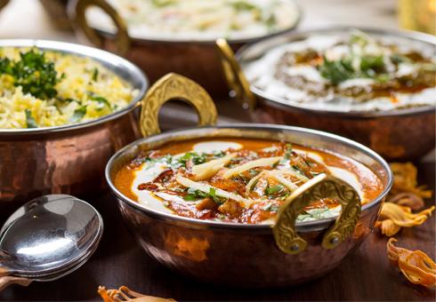 Various indian dishes at Royal Bengal, Dagenham