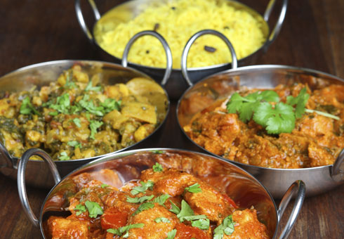 Various Indian Dishes and Rice. Jesmond Tandoori, Jesmond
