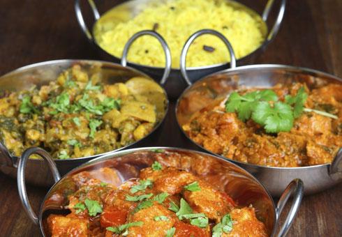 Various Indian Dishes and Rice. Jesmond Tandoori, Jesmond