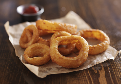 Onion Rings. 1st Class Pizza, West Bromwich.