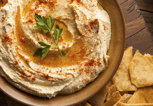 Amasi Cafe London freshly made light and airy hummus