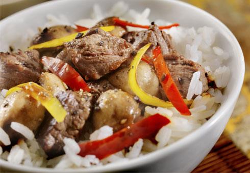 San San Garden Old Basford fried rice dish