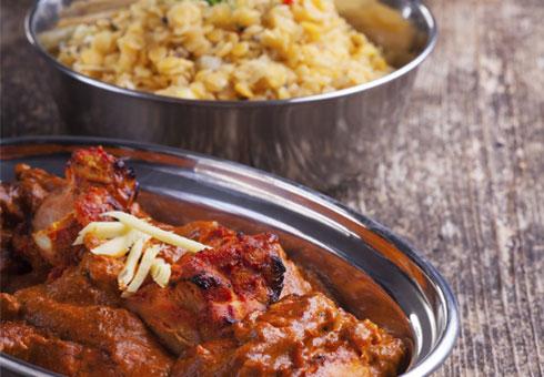 Chicken Tikka Dish with rice. The Jalais, Croydon