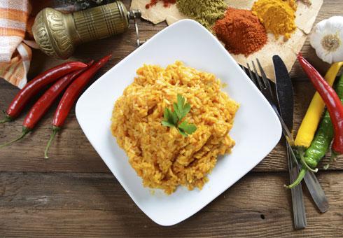 Rice Dish. Darjeeling Dunkeld