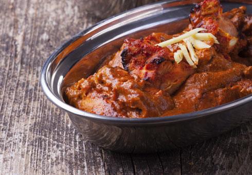 The Khukuri Edinburgh chicken curry dish