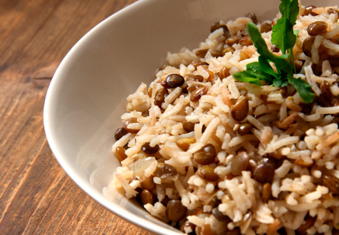 delicate rice side dish