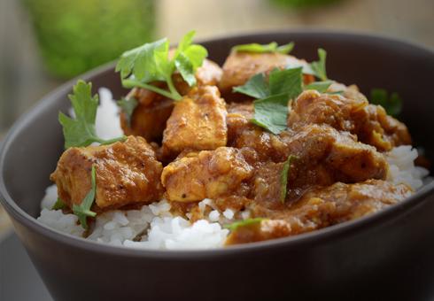 Freshly cooked Chicken curry dish at Jonaki Tandoori.