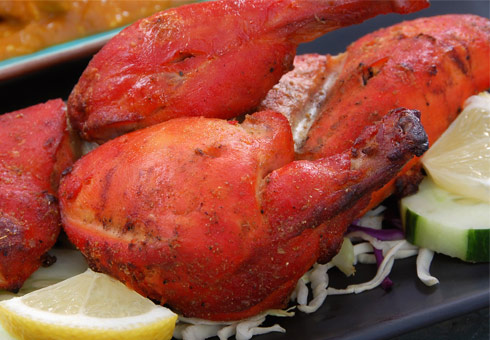 White Cliffs Tandoori, Dover, tandoori chicken