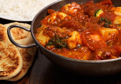 Bombay Spice Leith spicy chicken balti using only the freshest chicken breast served with naan