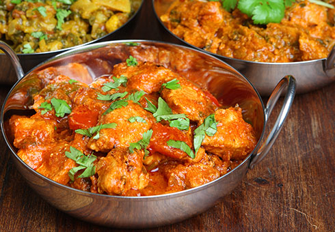 Little Indian Wirral  chicken balti dish made with fresh chicken breast chunks