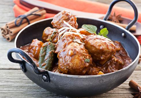 Traditional Indian curry dish. Taj Balti Surrey