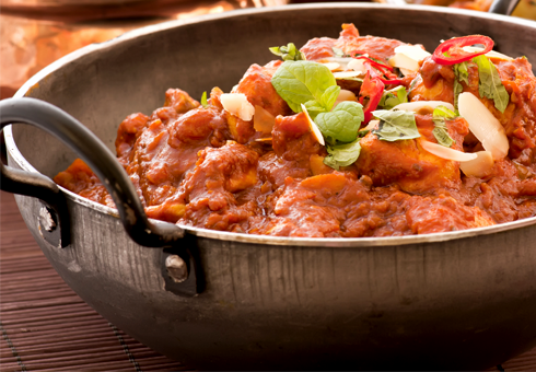 Indian Balti Dish. Raj Indian, Luton