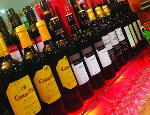 Wide Range of Wine at Taj Mahal 2 Chelmsford