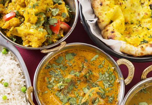 Blue Lagoona curries and rice