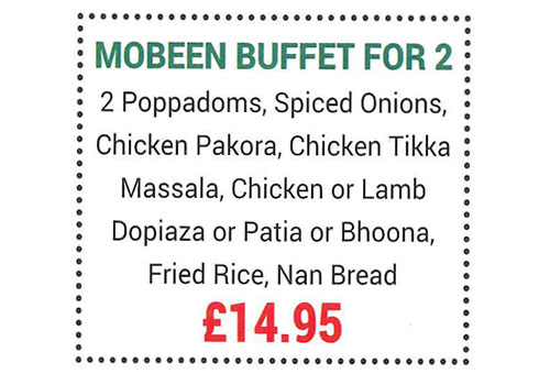 Mobeen Tandoori Motherwell fantastic promotional offer
