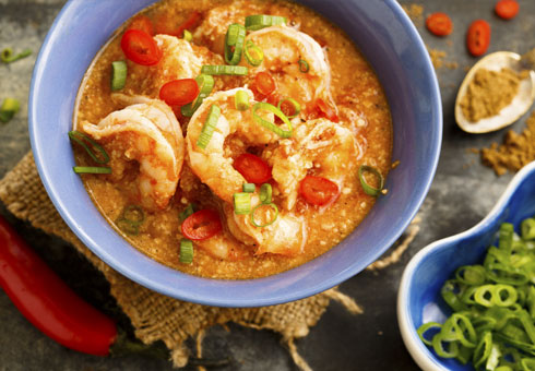 Mitalee Westcliff hot and spicy king prawn curry with chillies