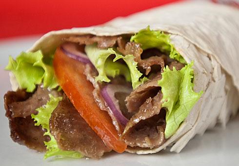 BasilCo, Cardiff, kebab wrap