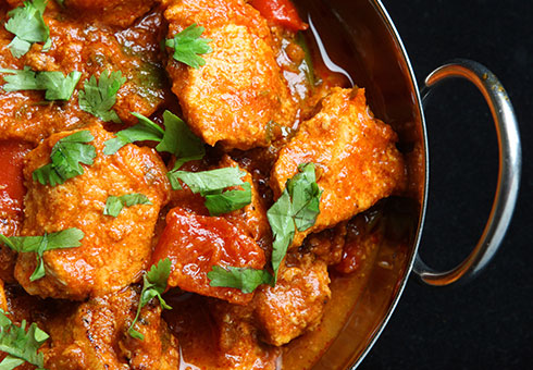 Town End Farm Sunderland chicken balti made using large chunks of the freshest breast meat