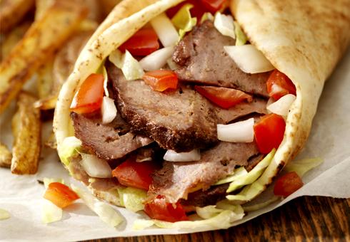 Kebab Wrap. Falafel Wales