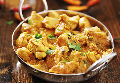 Jaflong East Dulwich creamy chicken curry served in a balti dish