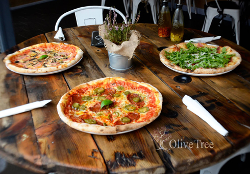 Various Pizzas available. Olive Tree, Dudley.