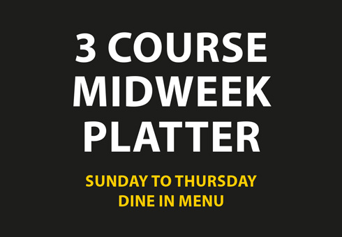 Our Midweek Platter Menu at Cinnamon Spice, Kent.